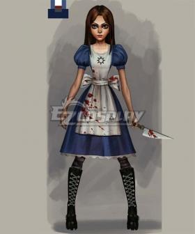 Alice: Asylum Alice Dresses Cosplay Costume