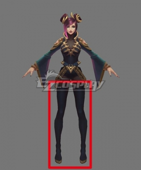 League of Legends LOL Pentakill III Lost Chapter Sona Black Shoes Cosplay Boots