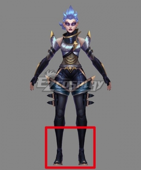 League of Legends LOL Pentakill III Lost Chapter Kayle Black Shoes Cosplay Boots