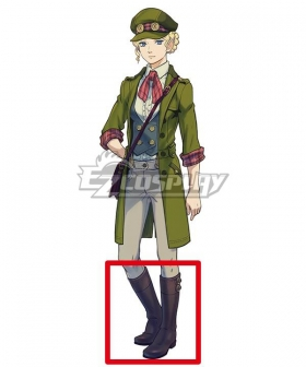 The Great Ace Attorney Chronicles Gina Lestrade Black Shoes Cosplay Boots