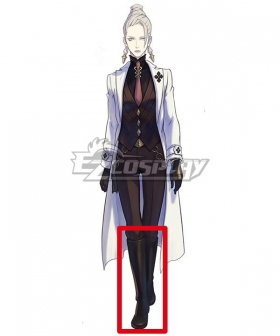 The Great Ace Attorney Chronicles Dr. Courtney Sithe Black Shoes Cosplay Boots