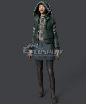 Dead by Daylight Bunny Feng Min Halloween Green Cosplay Costume