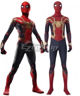 Marvel Spider-Man 3 No Way Home Spider Man 3 Peter Parker Iron Spider Suit Jumpsuit Zentai Halloween Cosplay Costume