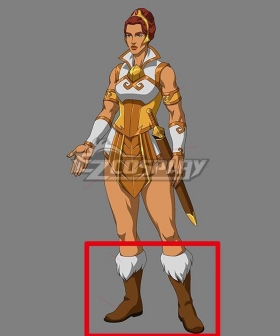Masters of the Universe: Revelation Teela Brown Shoes Cosplay Boots