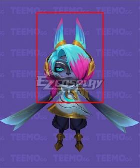 League of Legends LOL Dawnbringer Vex Pink Blue Cosplay Wig