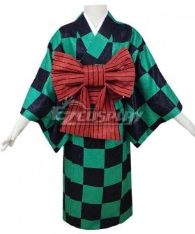 Kids Size Demon Slayer: Kimetsu No Yaiba Kamado Tanjirou Kimono Cosplay Costume