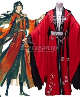 Tian Guan Ci Fu Heaven Official's Blessing Comic Hua Cheng Crimson Rain Sought Flower Cosplay Costume