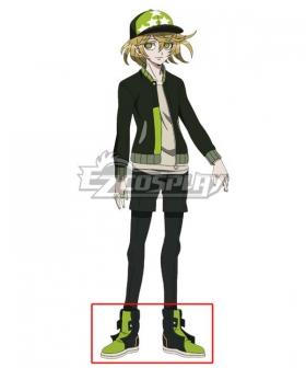 Tribe Nine Haru Shirokane Green Black Cosplay Shoes