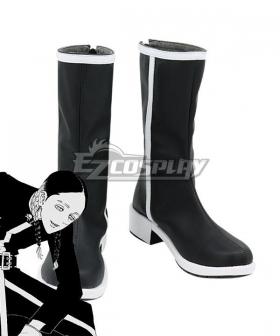 Tokyo Revengers Ran Haitani Black Shoes Cosplay Boots