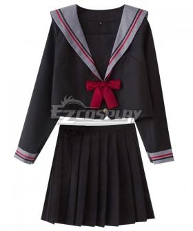Black Long Sleeves School Uniform Cosplay Costume - ESU001Y