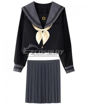 Black Long Sleeves School Uniform Cosplay Costume -ESU004Y