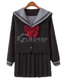 Black Long Sleeves School Uniform Cosplay Costume ESU011Y