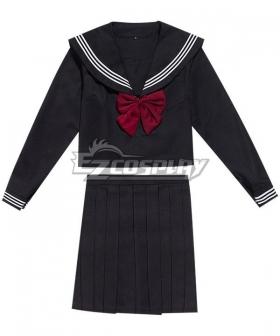 Black Long Sleeves School Uniform Cosplay Costume ESU013Y