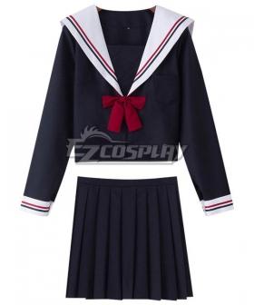 Black Long Sleeves School Uniform Cosplay Costume New Edition