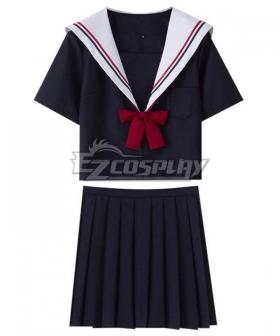 Black Short Sleeves School Uniform Cosplay Costume ESU012Y