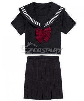 Black Long Sleeves School Uniform Cosplay Costume ESU015Y