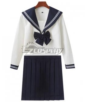 White Long Sleeves School Uniform Cosplay Costume - ESU005Y