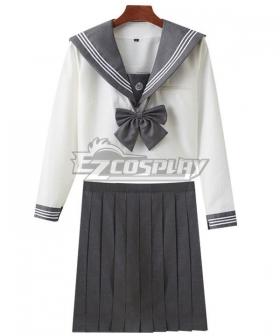 White Long Sleeves School Uniform Cosplay Costume ESU007Y