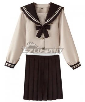 Yellow Long Sleeves School Uniform Cosplay Costume ESU008Y