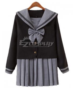 Black Long Sleeves School Uniform Cosplay Costume ESU016Y