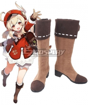 Genshin Impact Klee Brown Shoes Cosplay Boots B Edition