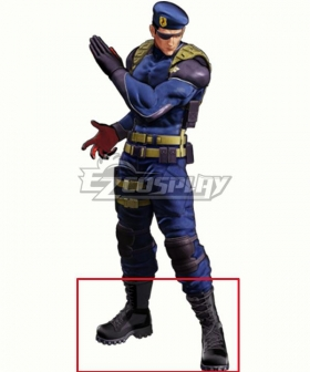 The King Of Fighters KOF XV Heidern Black Shoes Cosplay Boots