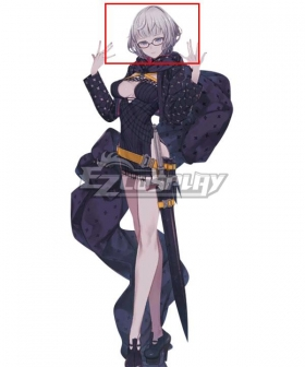 Fate Grand Order FGO Jacques de Molay Grey White Cosplay Wig