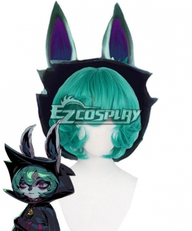 League of Legends LOL The Gloomist Vex Green Cosplay Wig