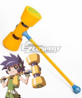 The Powerpuff Girls Z Buttercup Kaoru Matsubara Hammer Cosplay Weapon Prop