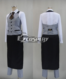 Tokyo Ghouls Ken Kaneki Cosplay Costume For Coffeehouse Waiter