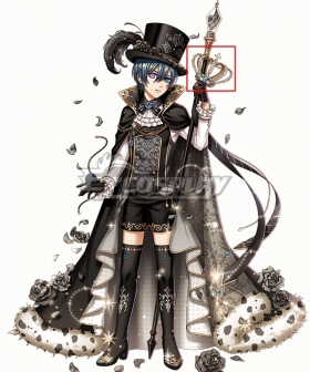 Yume 100 Sleeping Princes & the Kingdom of Dreams Black Butler Ciel Phantomhive Crown Cosplay Weapon Prop