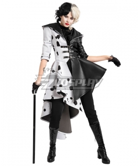 Disney Movie Cruella de Vil Dalmatian Cosplay