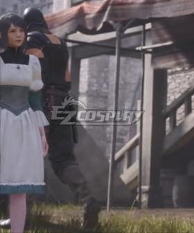 Final Fantasy XVI FF16 Girl Grey Cosplay Wig