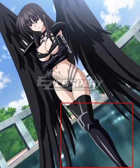High School DxD BorN Raynare Black Shoes Cosplay Boots
