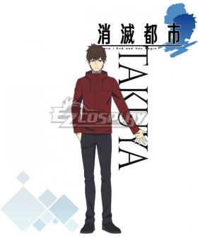 Annihilated City Shoumetsu Toshi Takuya Cosplay Costume