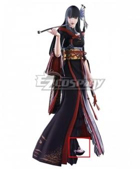 Final Fantasy XIV Yotsuyu Goe Brutus Black Shoes Cosplay Boots