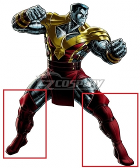Marvel X-Men Colossus Red Shoes Cosplay Boots