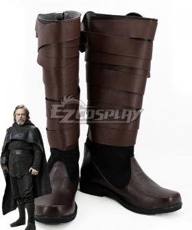 Star Wars The Last Jedi Luke Skywalker Brown Shoes Cosplay Boots