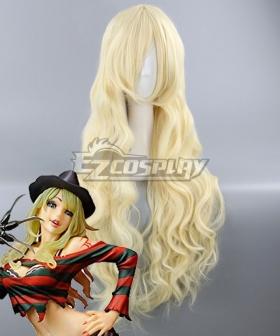 A Nightmare on Elm Street Freddy Krueger Female Halloween Light Golden Cosplay Wig