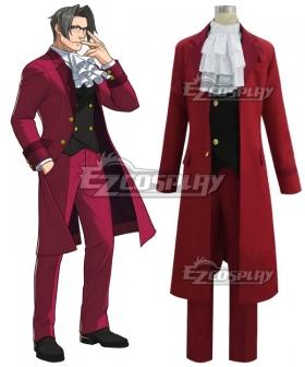 Ace Attorney Gyakuten Saiban Miles Edgeworth Cosplay Costume