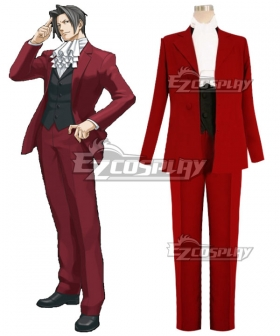 Ace Attorney Season 2 Miles Edgeworth Cosplay Costume