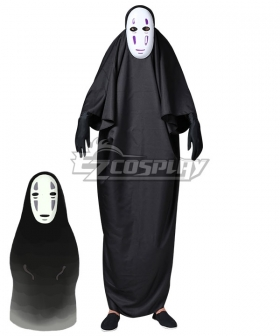 Adult And Kids Hayao Miyazaki Spirited Away No-Face No Face Kaonashi Halloween Cosplay Costume