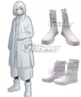 Akudama Drive Cutthroat Satsujinki White Cosplay Shoes