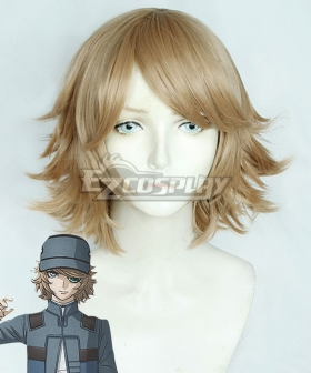 Akudama Drive Hacker Brown Cosplay Wig