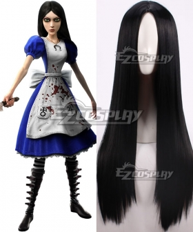 Alice: Madness Returns Alice Black Cosplay Wig