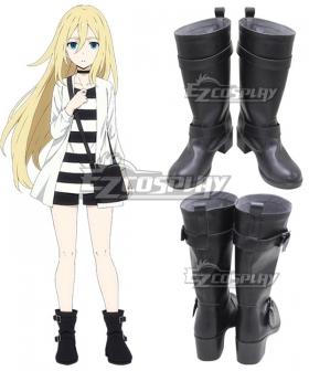 Angels Of Death Satsuriku No Tenshi Ray Rachel Gardner Black Shoes Cosplay Boots