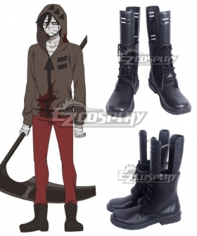 Angels Of Death Satsuriku No Tenshi Zack Brown Shoes Cosplay Boots