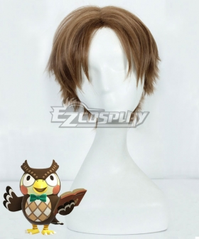Animal Crossing: New Horizon Blathers Brown Cosplay Wig