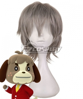 Animal Crossing: New Horizons Digby Grey Cosplay Wig