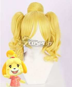 Animal Crossing: New Horizons Isabelle Golden Cosplay Wig